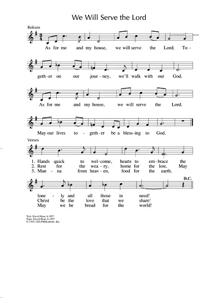 Singing From The Lectionary October 2014